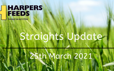 Straights Update 25th March 2021