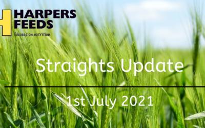 Straights Update 1st July 2021